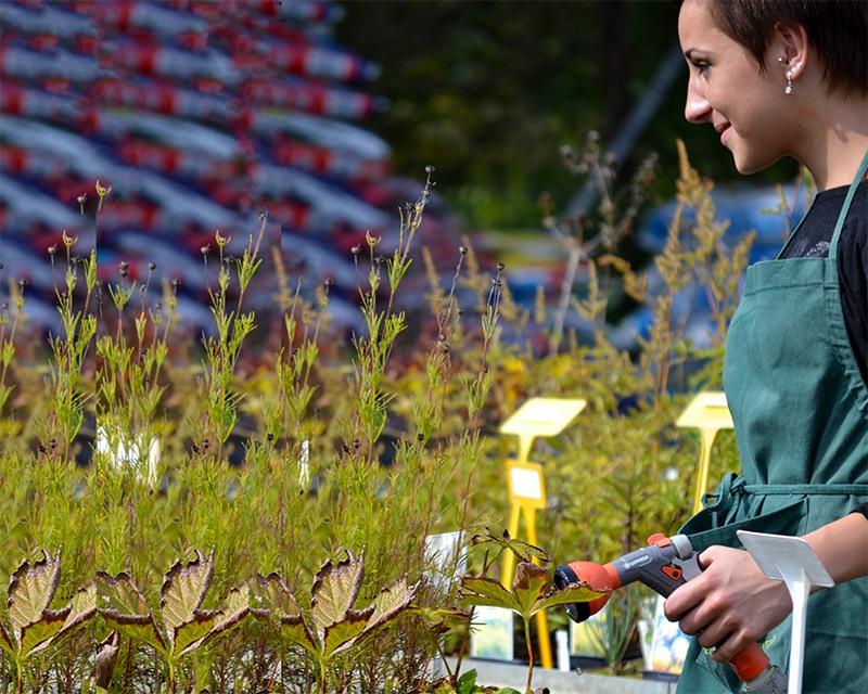 studentka v zahradnictví